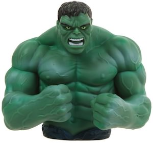 The incredible Hulk piggy bank