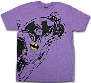 Neon purple batman t shirt for Bright purple t shirt