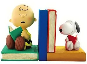 Charlie Brown And Snoopy Bookends