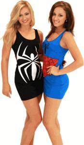 Marvel Comics Spider Man Tank Dresses.