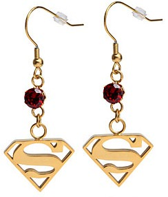Superman Dangle Earrings