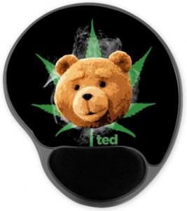 Ted Pot Leaf Mousepad