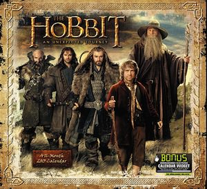The hobbit 2013 wall calendar