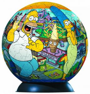 The Simpsons Jigsaw Puzzle Ball