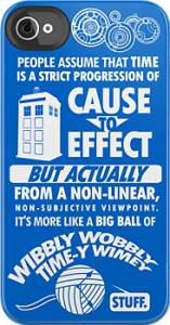 Doctor Who Time-y Wimey iPhone Case.