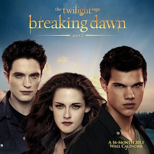 Twilight Breaking Dawn 2013 Wall Calendar