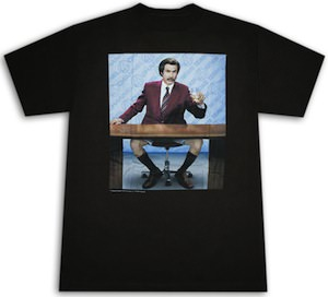 Anchorman Ron Burgundy No Pants T-Shirt