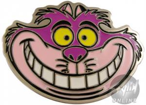 Alice in Wonderland Cheshire Cat Smile Belt Buckle