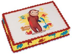 Curious George Edible Cake Topper