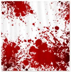 Dexter Blood Spatter Shower Curtain