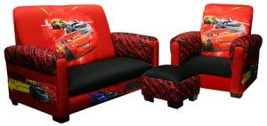 Disney Cars Toddler Sofa Chair And Ottoman Set