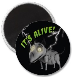 Frankenweenie Sparky It's Alive Magnet