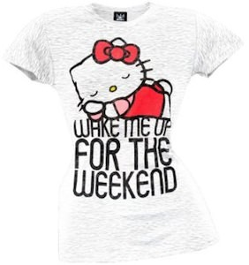 Hello Kitty Wake Me Up For The Weekend T-Shirt