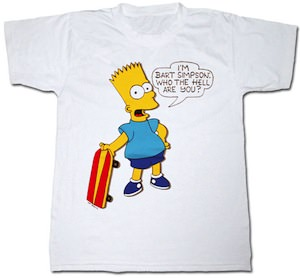 The Simpsons I Am Bart Who Are You T-Shirt