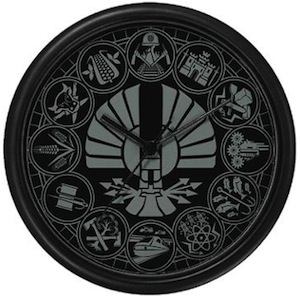 The Hunger Games Panem Districts Wall Clock