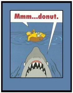 Simpsons Jaws Mmm Donut Magnet