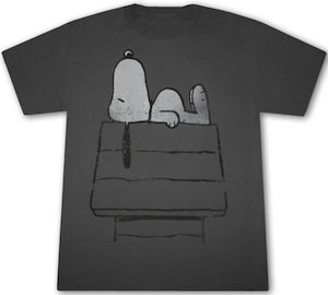 Peanuts - Snoopy On The Doghouse T-Shirt