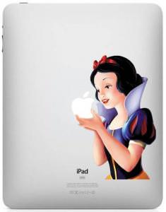 Disney Princess Snow White Apple iPad Vinyl Decal