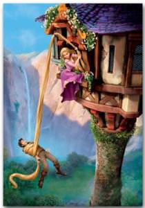 Tangled Hanging On Hair Movie Poster