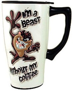 Taz Im A Beast Without My Coffee Travel Mug