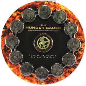 The Hunger Games Districts Button Set