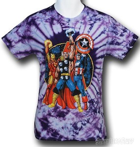 Marvel The Avengers Tie-Die T-Shirt