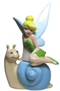 Disney Tinker Bell And Snail Salt And Pepper Shaker Set