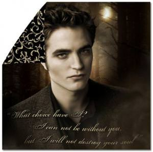 Twilight New Moon Edward Destroy Your Soul Duvet Cover