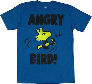 Peanuts Angry Bird Woodstock T-Shirt