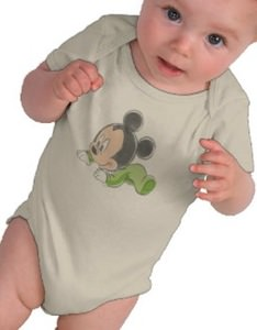 Baby Mickey On This Bodysuit