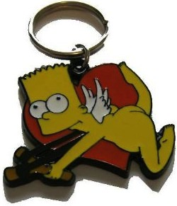 The Simpsons Bart Simpson Cupid Key Chain