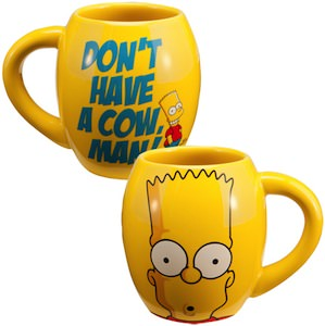 Bart Simpson Dont Have A Cow Man Mug