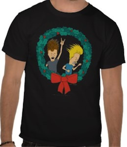 Beavis And Butt-Head Christmas Wreath T-Shirt