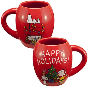 Peanuts Charlie Brown And Snoopy Christmas Mug