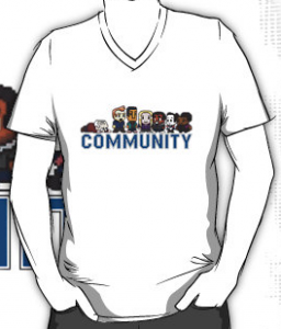 Community 8 Bits Character T-Shirt