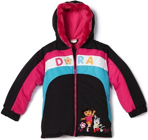 Dora The Explorer Kids Winter Jacket
