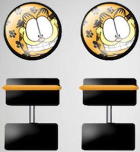 Garfield Fake Plug Earrings