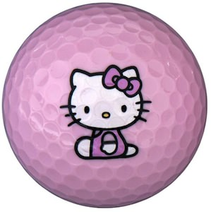 Hello Kitty Pink Golf Ball