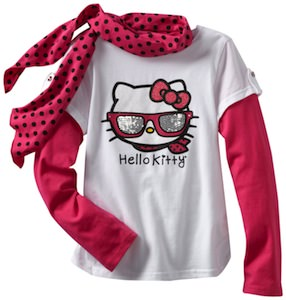 Hello Kitty Kids Shirt And Scarf