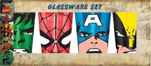 Marvel Big Faces 4 Pack Pint Glasses