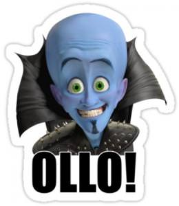 Megamind Ollo Decal Sticker