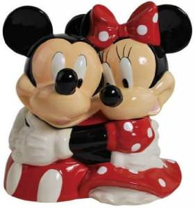 Mickey and Minnie Hugging Cookie Jar