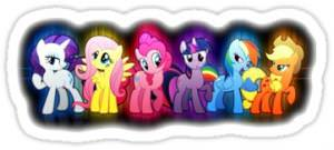 My Little Pony Mane Six Sticker Decals