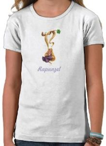 Princess Rapunzel Swinging On A Branch T-Shirt