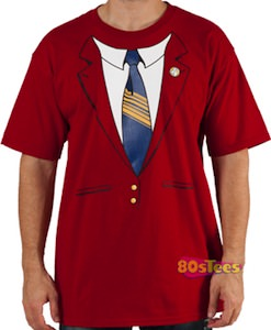 Anchorman Rob Burgundy Jacket Costume T-Shirt