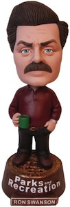 Parks And Recreations Ron Swanson Bobblehead