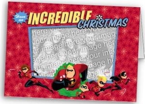 The Incredibles Photo Christmas Card