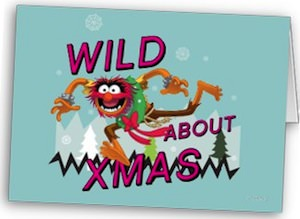 The Muppets Wild About Xmas Greeting Card