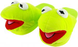 The Muppets Kermit the Frog Plush Slippers