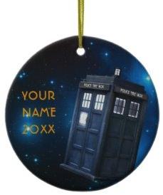 Doctor Who Personal Tardis Christmas Ornament